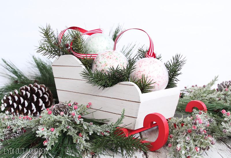 Christmas bath bomb spa basket gift