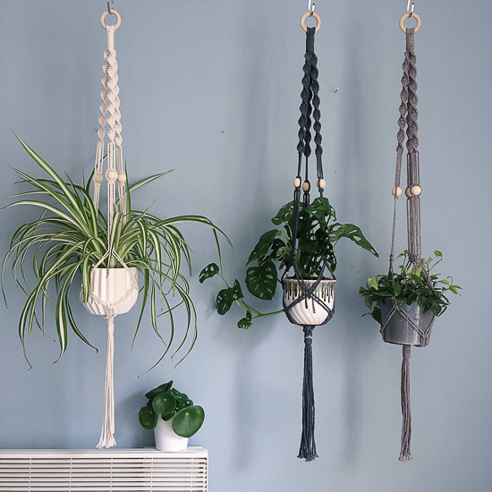 Beaded Macrame Plant Holder