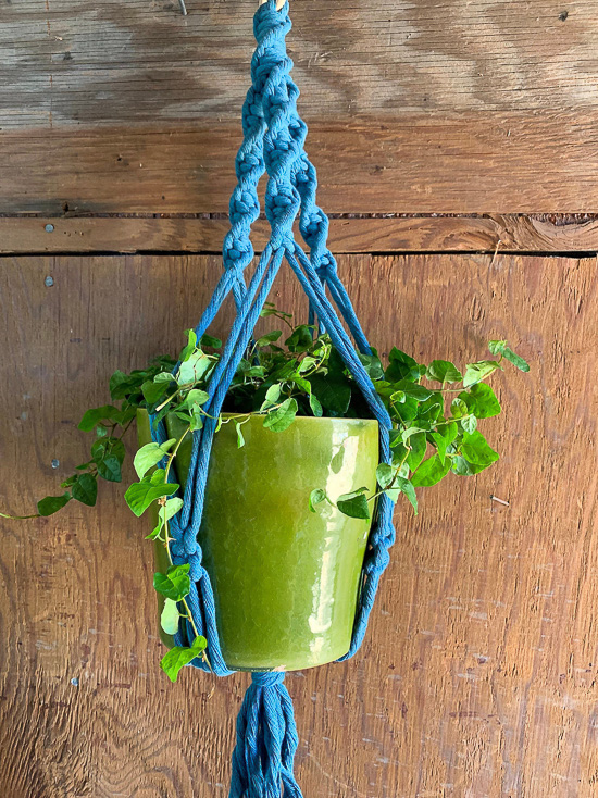 Colorful Macrame Plant Holder