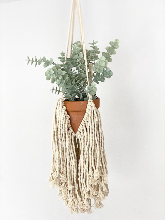 Fringe Macrame Hanging Plant Holder