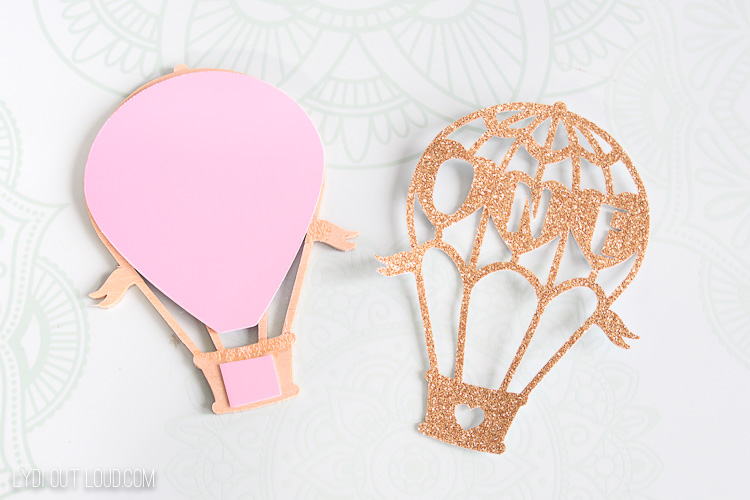 basswood glitter hot air balloon