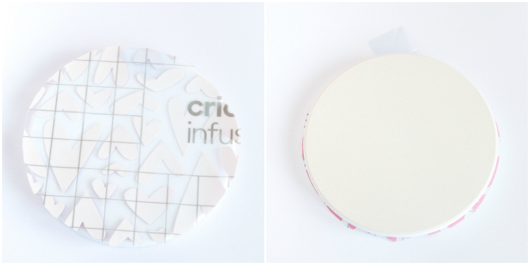 Infusible Ink Valentine's Day coasters
