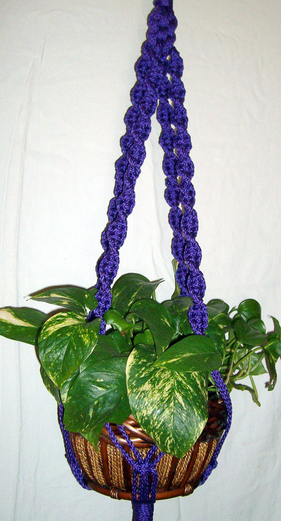 Large spiral Macrame Plant Holder