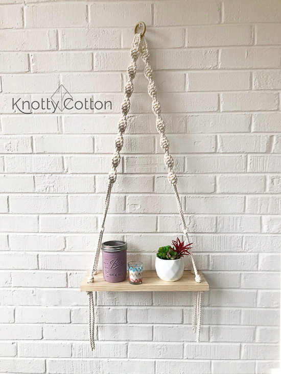 Macrame shelf hanging kit