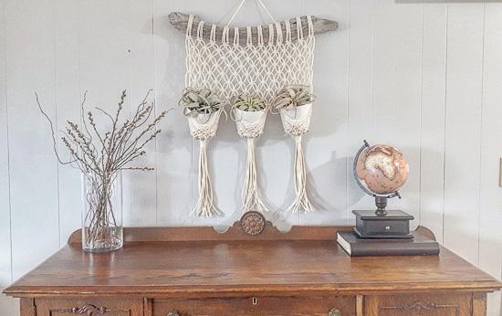 Macrame Triple Plant Hanger