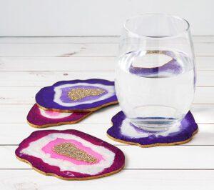 Faux Agate Coasters