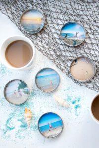 DIY Resin Photo Coasters