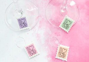 DIY Valentine's Wine Charms