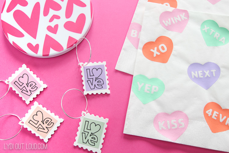 Valentine's Day party crafts to make with a Cricut