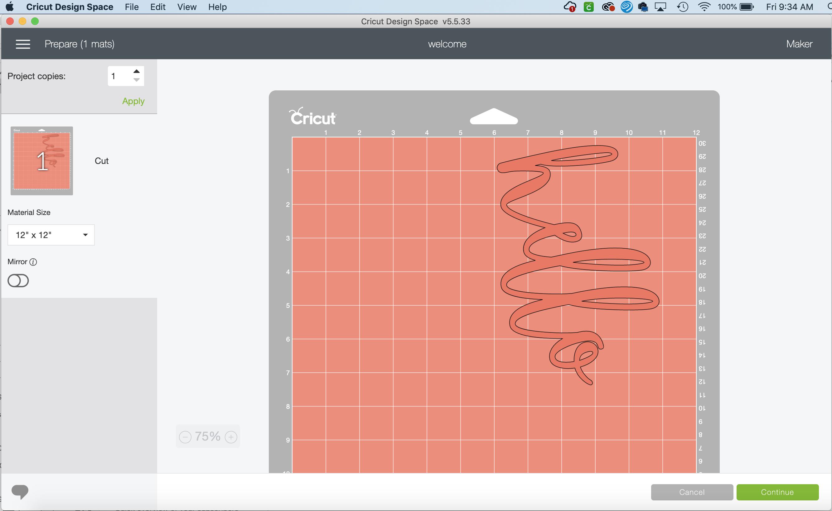 Edit a mat in Cricut Design Space