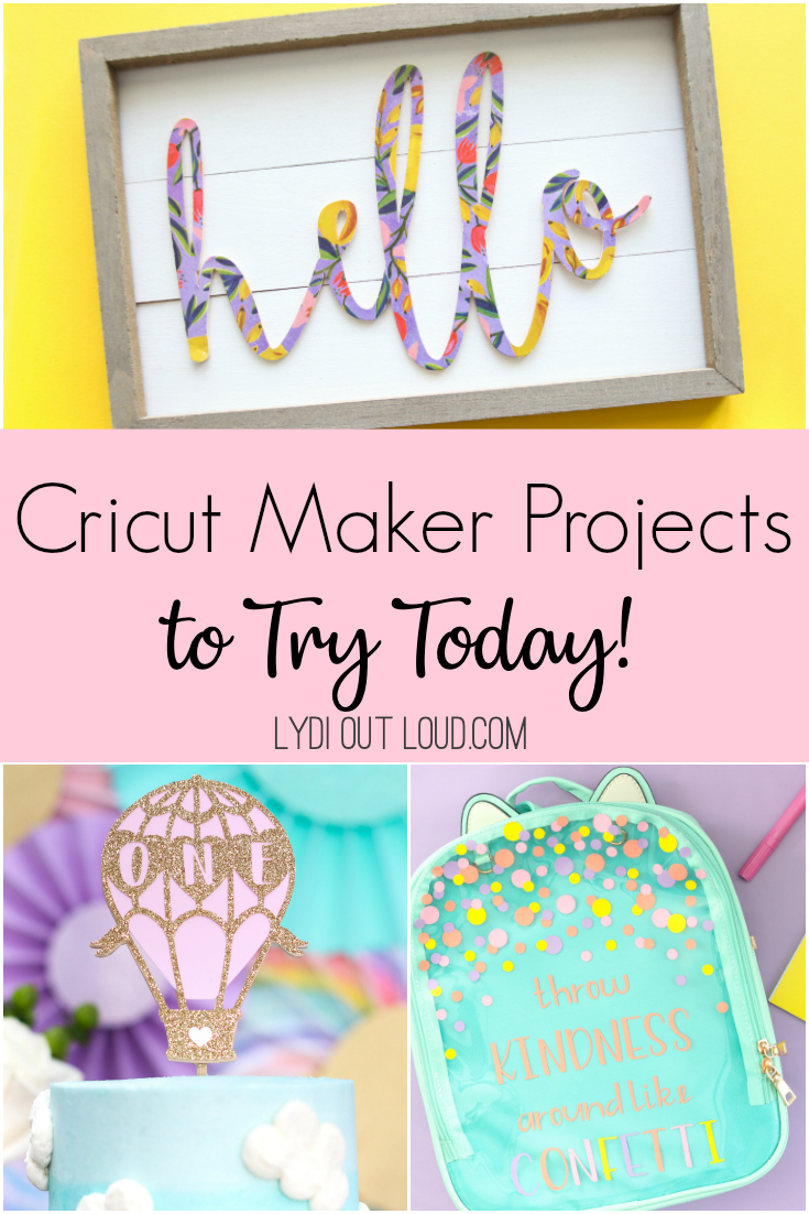 Inspiring Cricut Maker project tutorials via @lydioutloud