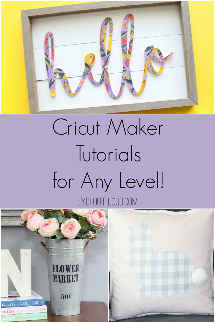 Cricut Maker tutorials for any level of crafter! via @lydioutloud