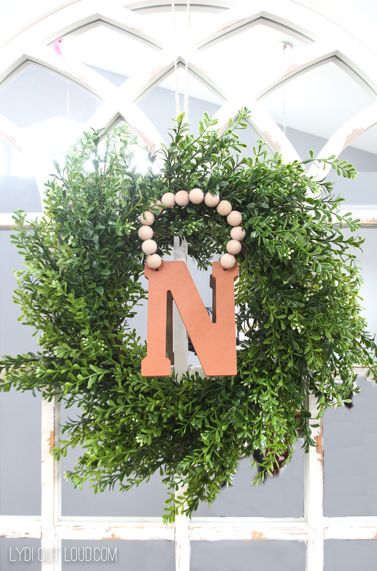 Faux Suede Initial DIY Monogram Wreath