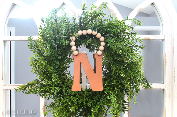Suede Finish Monogram Wreath