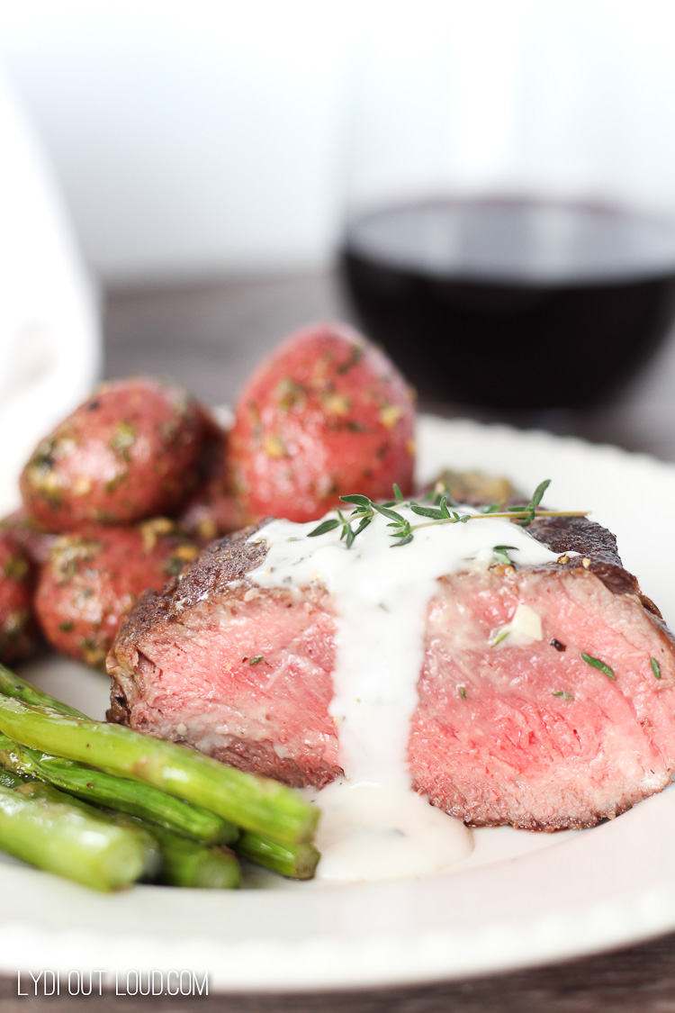 Pan Seared Filet Mignon with Garlic Aioli/Wine pairing