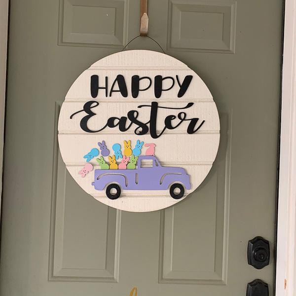 Easter Peeps Door Sign
