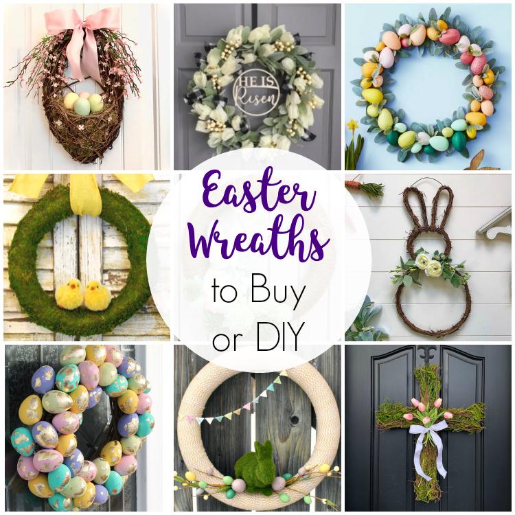Easter swag, wreath and door hanger ideas
