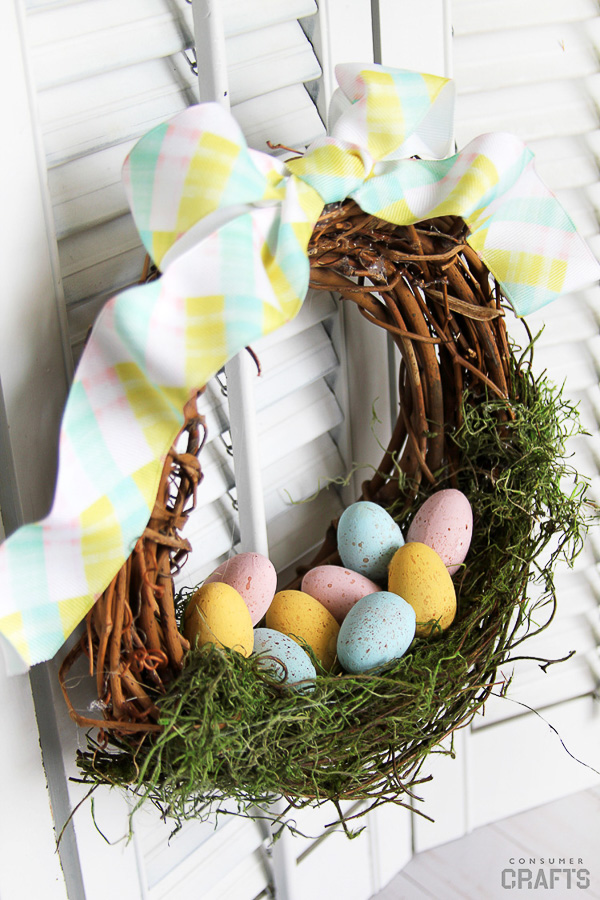 Speckled Egg Nest Wreath