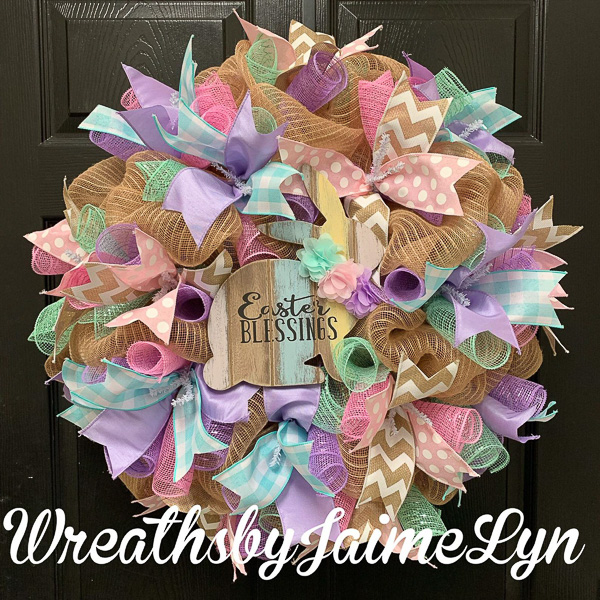 Easter Blessings Wreath
