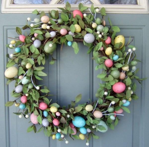 Monogram Easter Wreath