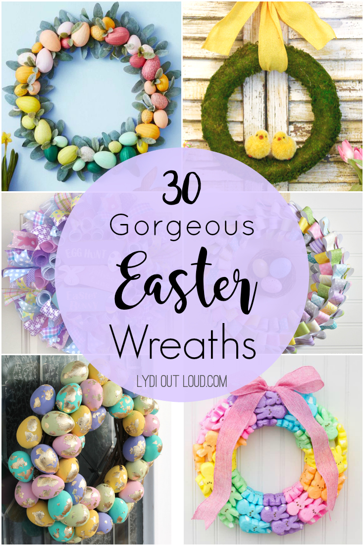 30 gorgeous Easter wreaths, door hangers and swags! via @lydioutloud