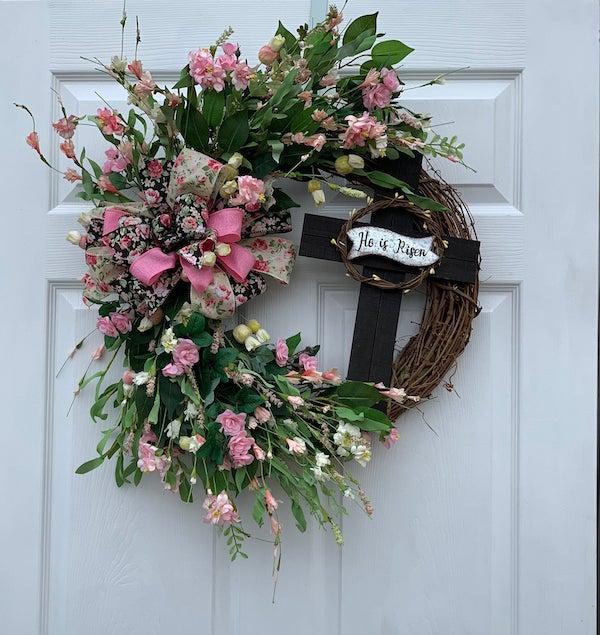 Farmhouse Cross Wreath