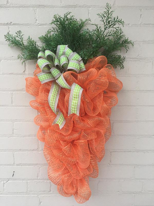 Mesh Carrot Wreath
