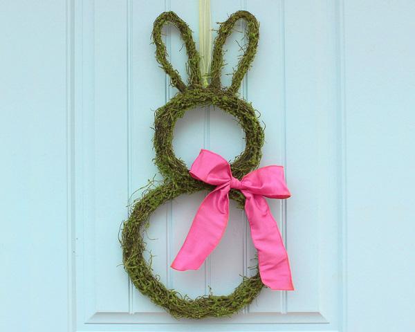Moss Bunny Wreath