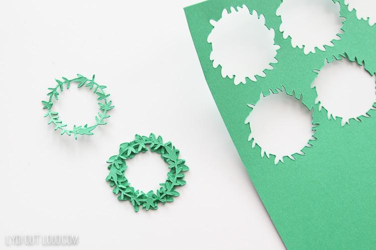 assemble paper wreaths