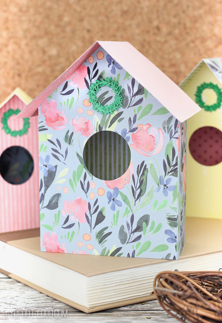 Paper DIY Birdhouse in 3 styles