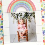 Wood rainbow picture frame