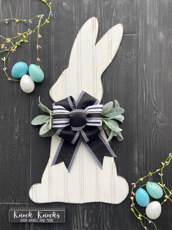 Rustic Wood Bunny Door Hanger