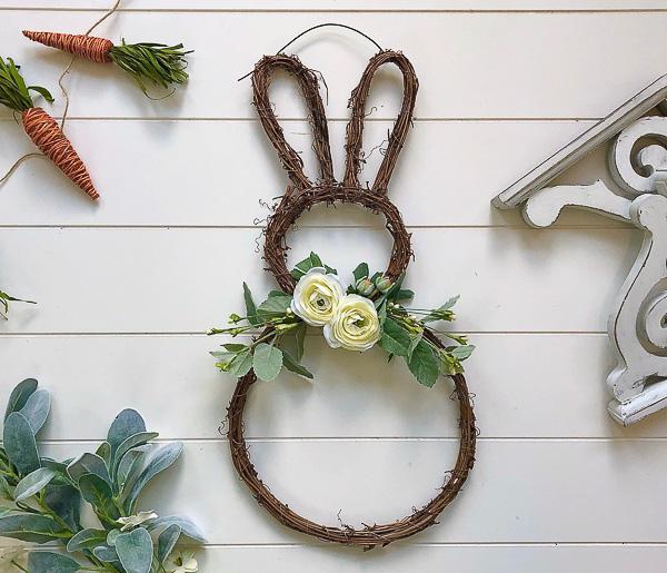 Rustic Bunny Grapevine Wreath