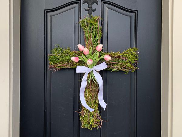 Twig and Moss Cross Wreath