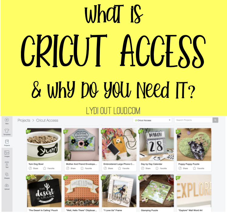 What do with a Cricut Access membership