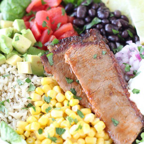 Mexican BBQ Beef Brisket Bowl