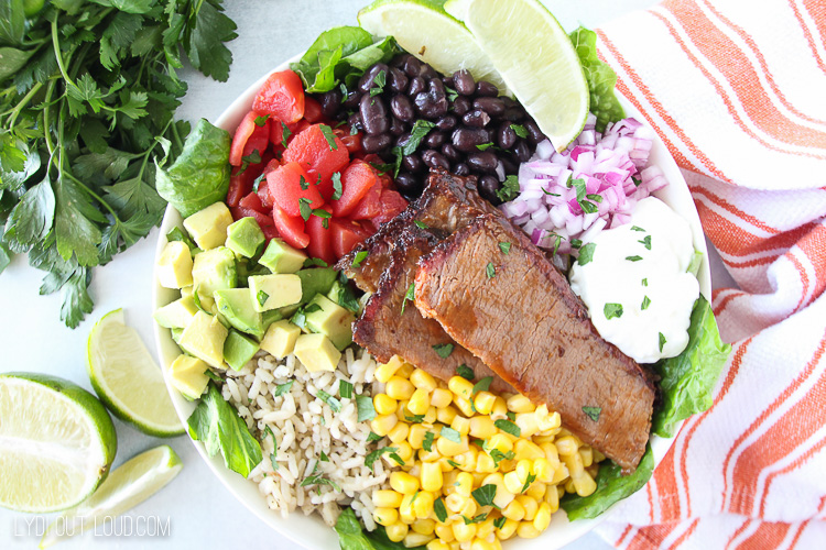 Mexican Barbecue Beef Brisket Bowl