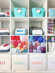 Cricut Craft Room Organization Hacks