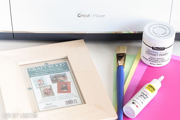 supplies for mother's day paper flower picture frame