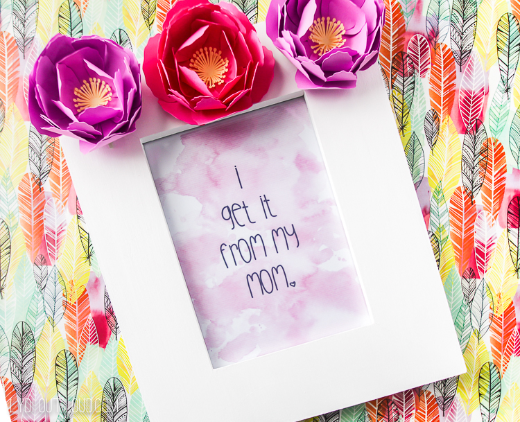 Mother's Day Paper flower picture frame