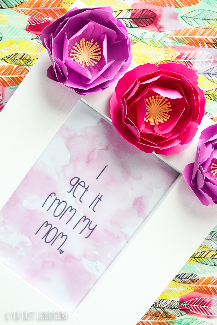 I get it from my mom free printable mother's day art
