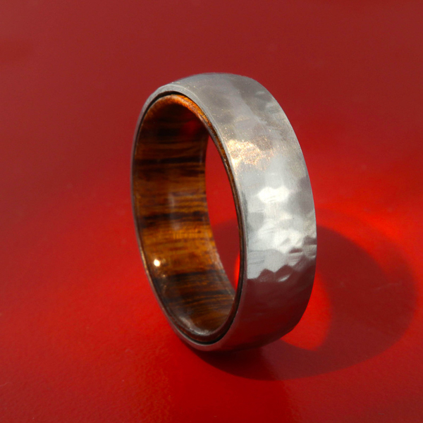 ironwood and titanium ring