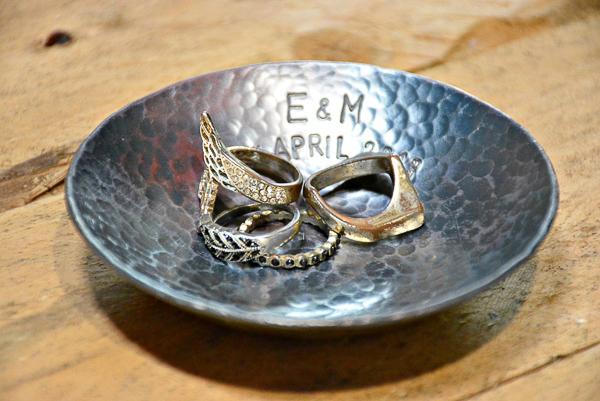wrought iron jewelry dish - 6 year wedding anniversary gift idea