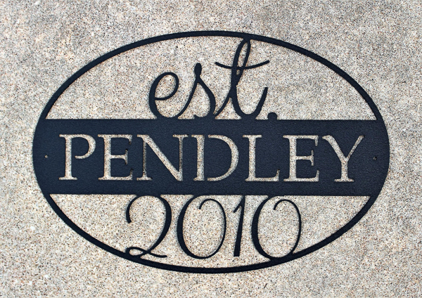 personalized family name sign - 6 year wedding anniversary gift idea