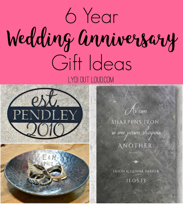 6 year iron anniversary gift ideas