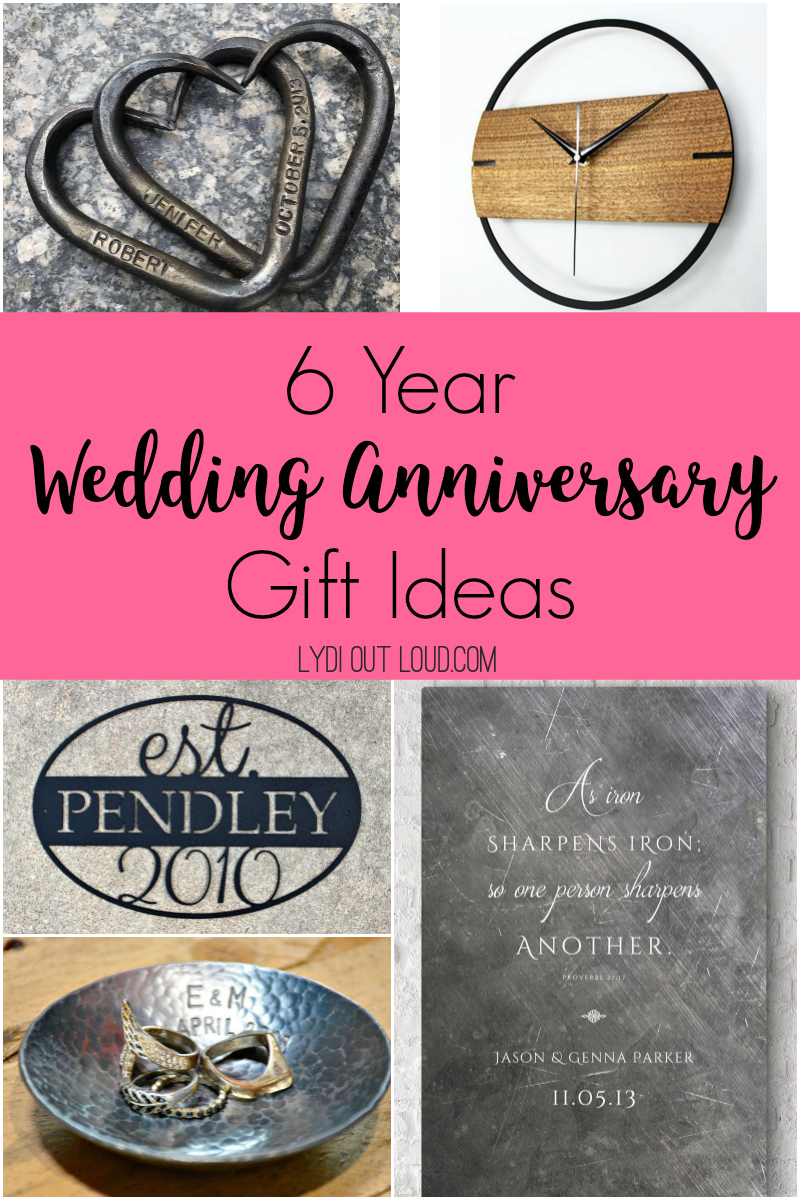 6 year iron wedding anniversary gift ideas