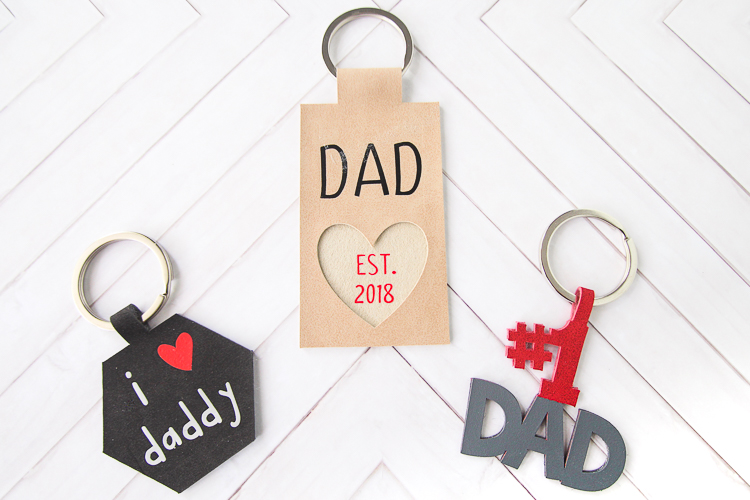 Father's Day DIY Leather Keychains