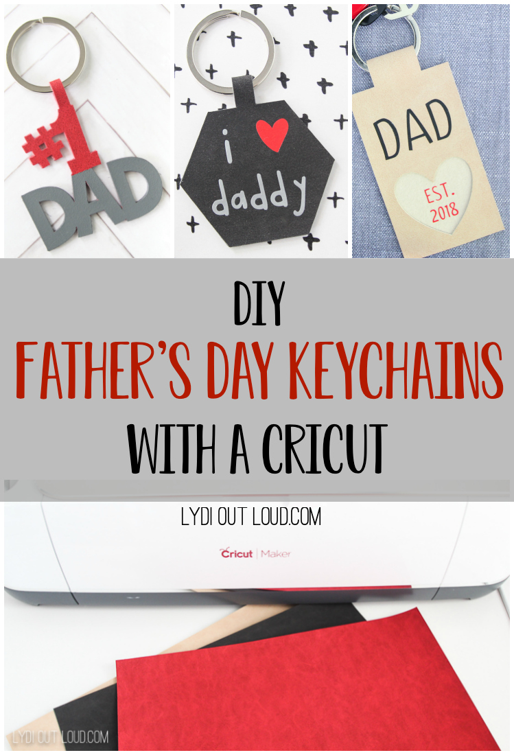 Homemade Leather Keychains for Father's Day gift idea