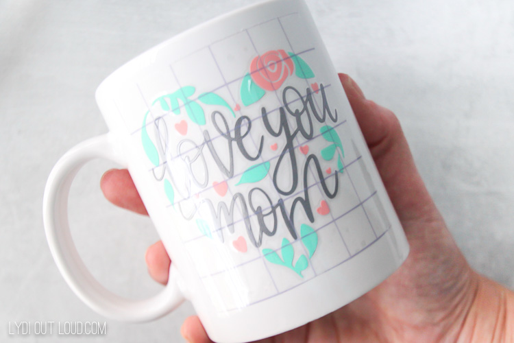 diy Cricut Joy mother's day vinyl mug
