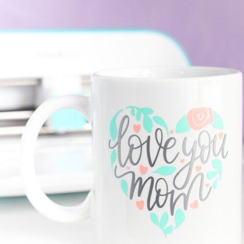 Mother's Day mug with Cricut Joy